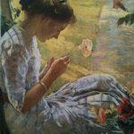 girlcuttingflower