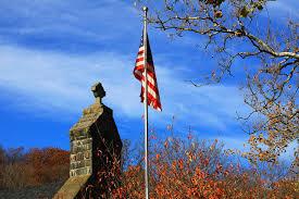 church and flag