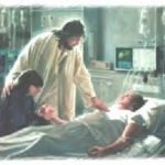 Jesus at bedside of the sick