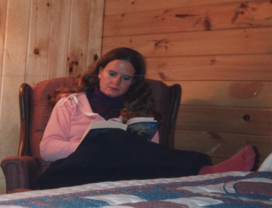 colleen in cabin