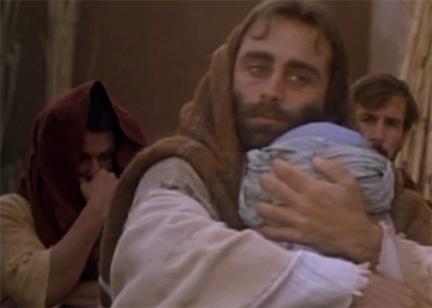 jesus hugging